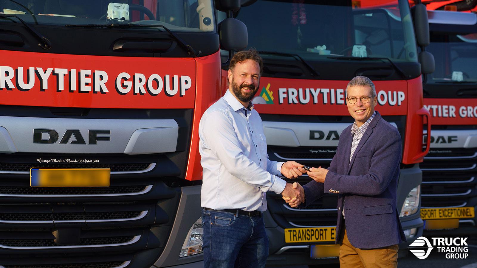 16 nouveaux DAFs CF FAT (6x4) de Fruytier Group