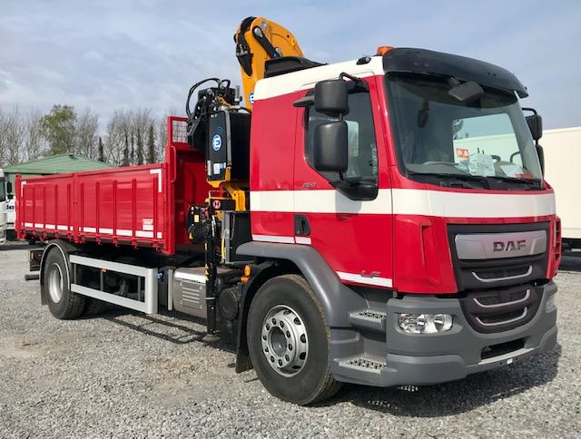 DAF LF 260 FA / 19 tonnes avec benne basculante et grue Effer foto 1